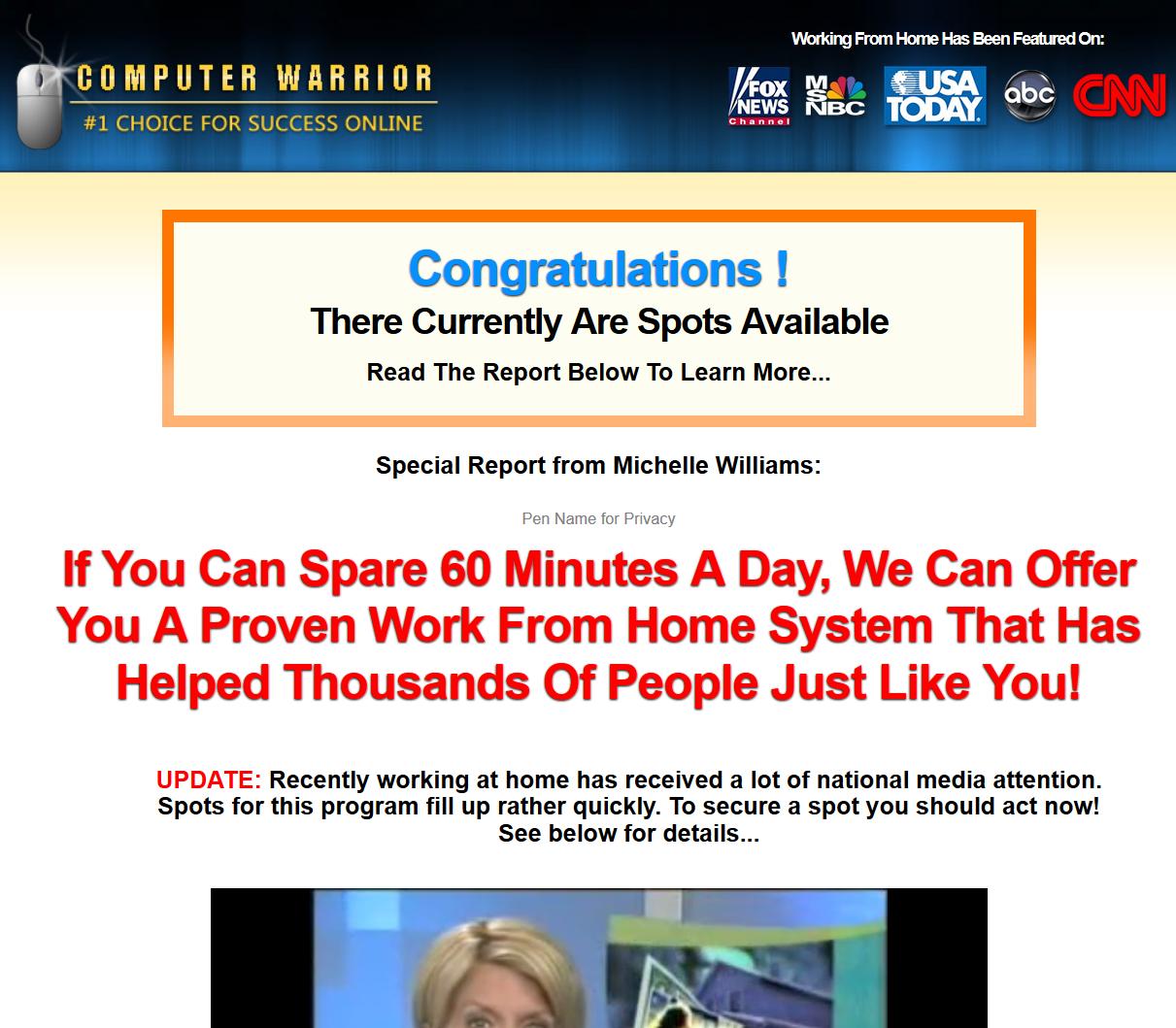 Computer Warrior System a Scam? | Reviews Logo